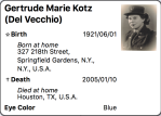 3. Gertrude Maire Kotz (DelVecchio)