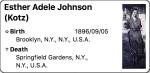 4. Esther Adele Johnson(Kotz)