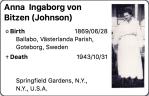 5. Anna Ingaborg vonBitzen