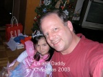 Lili and Daddy – Xmas2003